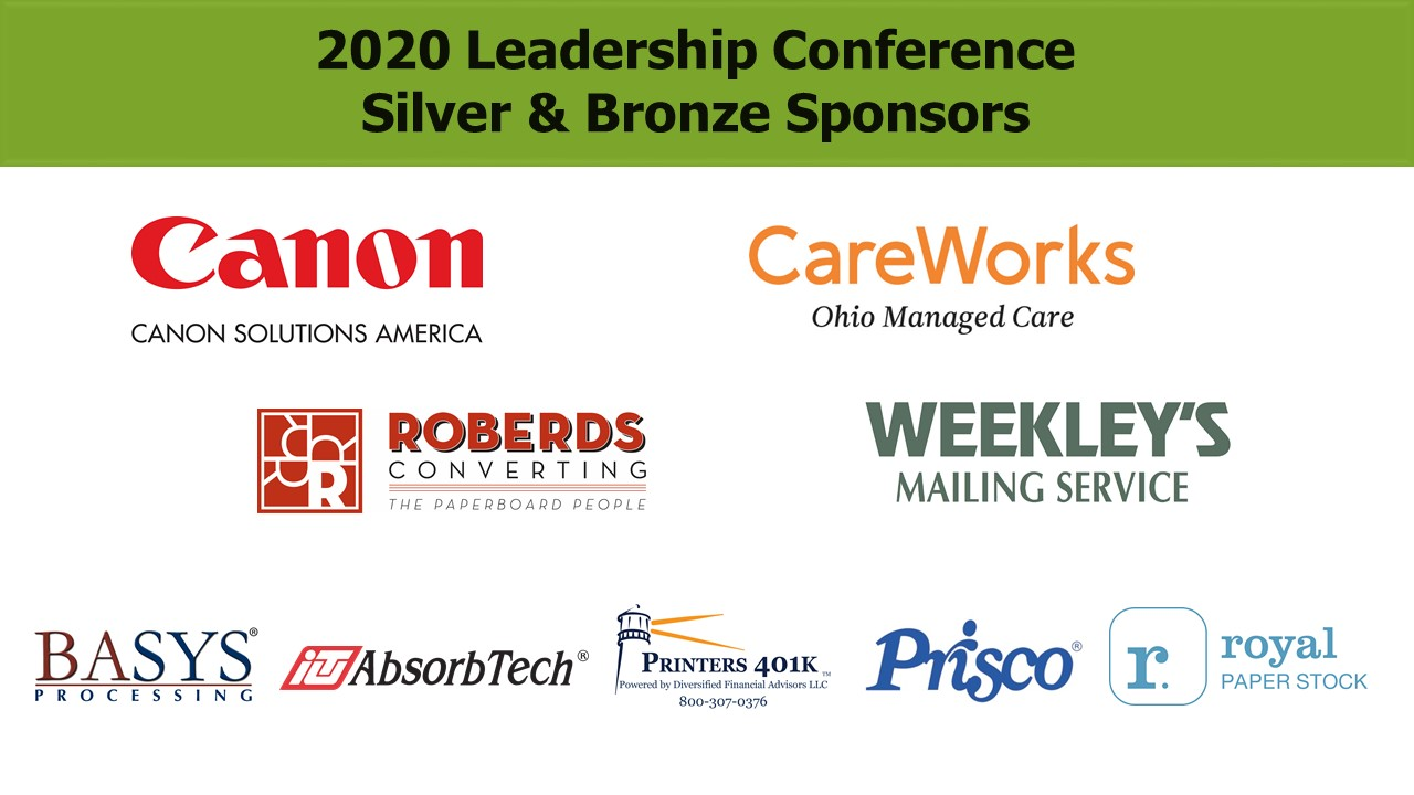 2020 Conference Silver & Bronze Sponsors